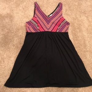 Black and multicolored dress